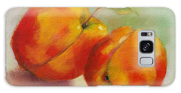 Two Peaches Galaxy Case by Michelle Abrams