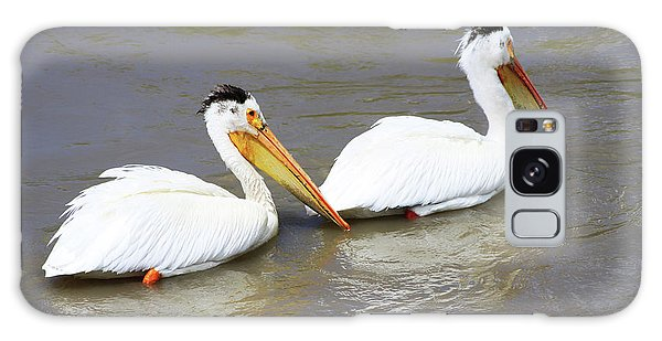 Two Pelicans Galaxy Case by Alyce Taylor