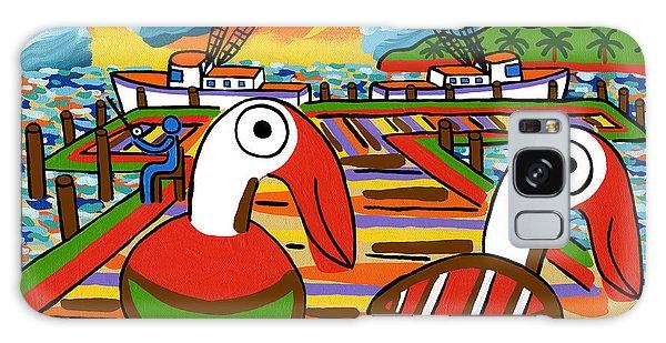 Two Pelicans On The Pier-cedar Key Galaxy Case
