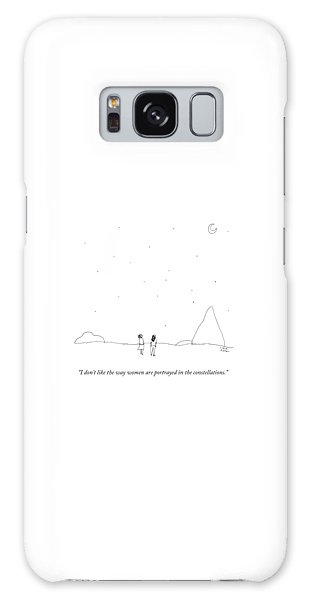 Two People Look At The Stars Galaxy Case