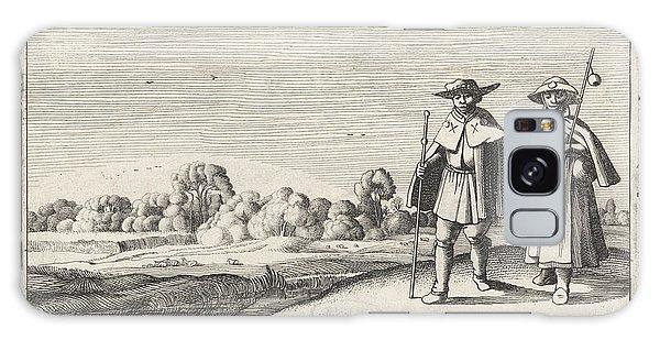 Pasture Galaxy Case - Two Pilgrims In A Landscape, Jan Van De Velde II by Jan Van De Velde (ii) And Anonymous And Claes Jansz. Visscher (ii)