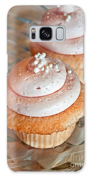 Two Pink Cupcakes Art Prints Galaxy Case