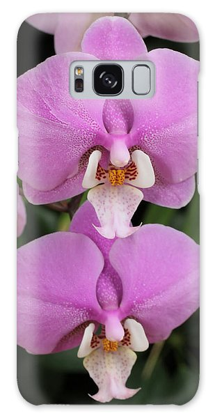 Two Pink Moth Orchids Galaxy Case