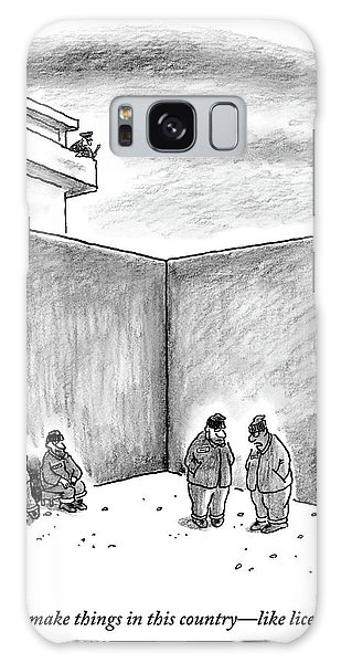 Two Prisoners Talk In The A Prison Yard Galaxy Case