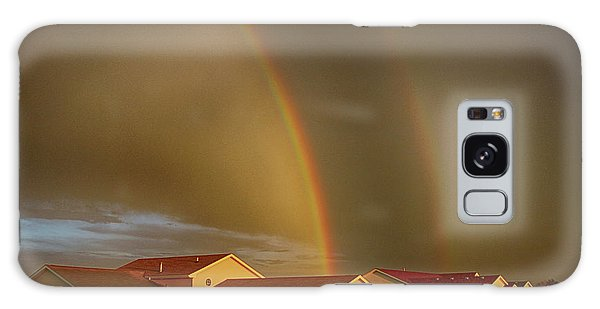 Two Rainbows Plus Two Pots Of Gold Galaxy Case