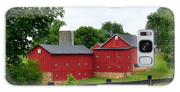 Two Red Barns Galaxy Case