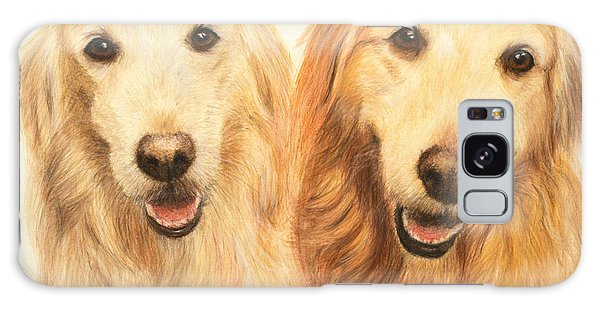Two Retrievers Painted Galaxy Case