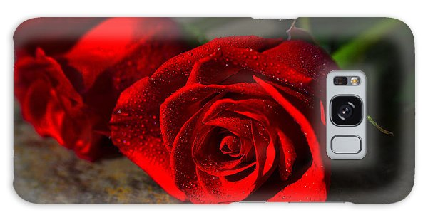 Two Roses Galaxy Case by Richard Stephen