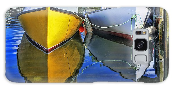 Two Row Boat At Fisherman's Cove Galaxy Case by Ken Morris