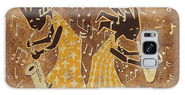 Two Sax Players Galaxy Case by Katherine Young-Beck