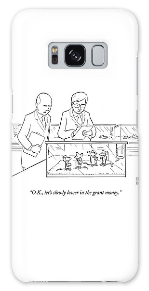 Mouse Galaxy Case - Two Scientists In Lab Coats Observe A Group by Paul Noth