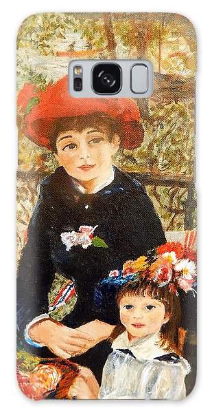 Two Sisters On The Terrace After Renoir Galaxy Case by Betty-Anne McDonald