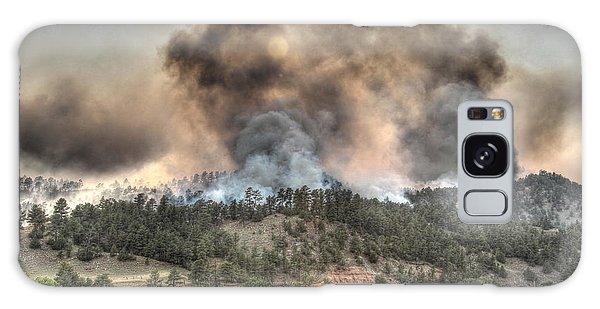 Two Smoke Columns White Draw Fire Galaxy Case by Bill Gabbert