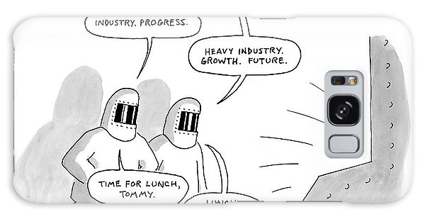Two Steel Workers Loftily Talk About The Future Galaxy Case