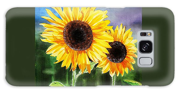 Two Suns Sunflowers Galaxy Case
