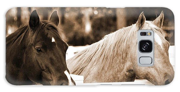 Two Sweet Horses Galaxy Case