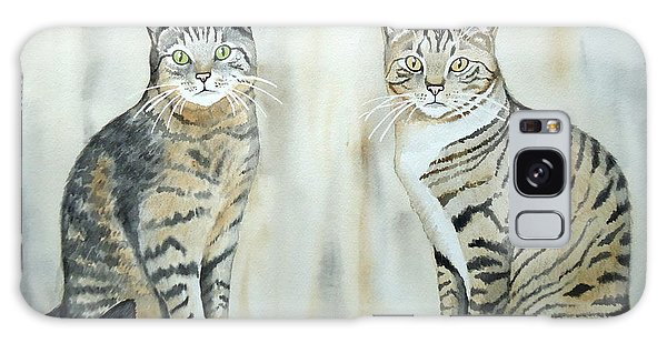 Two Tabby Cats Galaxy Case