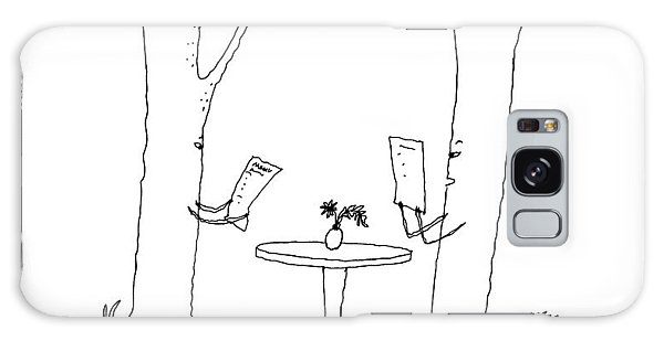 Two Trees Look At Restaurant Menus Galaxy S8 Case