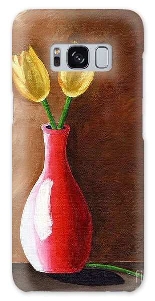 Two Tulips And A Pink Rose Galaxy Case by Laura Forde