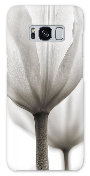 Two Tulips Bw 1 Galaxy Case