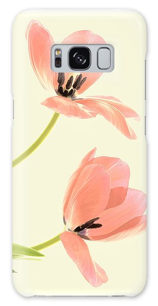 Two Tulips In Pink Transparency Galaxy Case
