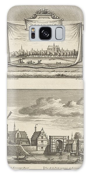 Pasture Galaxy Case - Two Views In Alkmaar With The Great Church by Leonard Schenk