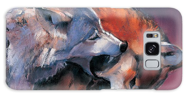 Two Wolves Galaxy Case