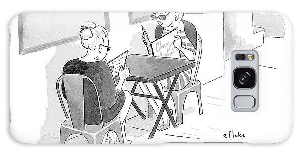 Two Women Speak In A Restaurant Galaxy S8 Case