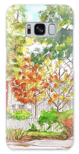 Two Yellow Trees In West Hollywood - California Galaxy Case