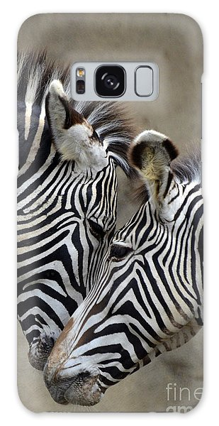 Two Zebras Galaxy Case by Mark Newman