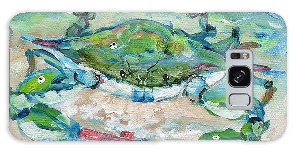 Tybee Blue Crab Mini Series Galaxy Case by Doris Blessington