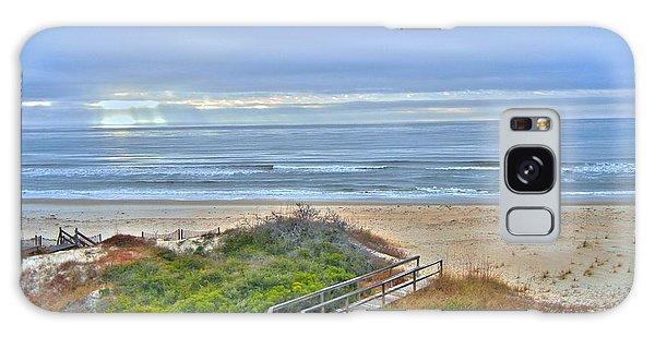 Tybee Island Beach And Boardwalk Galaxy Case by Donald Williams