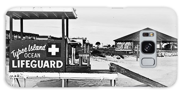 Tybee Island Lifeguard Stand Galaxy Case by Melissa Sherbon