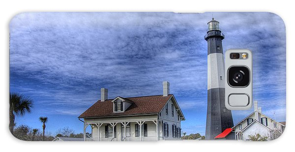Tybee Island Lighthouse Galaxy Case by Donald Williams