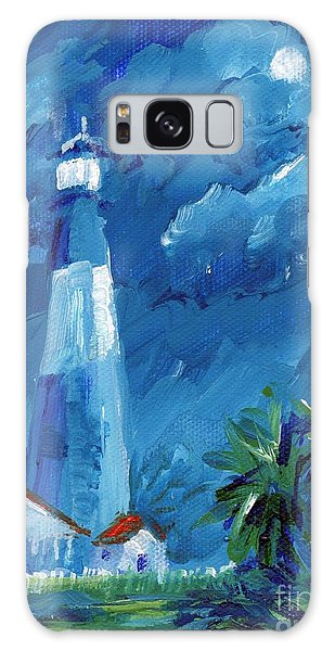 Tybee Lighthouse Night Mini Galaxy Case by Doris Blessington