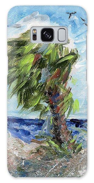 Tybee Palm Mini Series 1 Galaxy Case by Doris Blessington