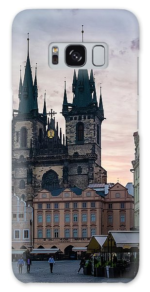 Town Square Galaxy Case - Tyn Cathedral On Old Town Square by Jason Langley