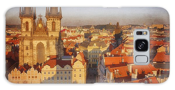 Town Square Galaxy Case - Tyn Church Old Town Square by Joan Carroll