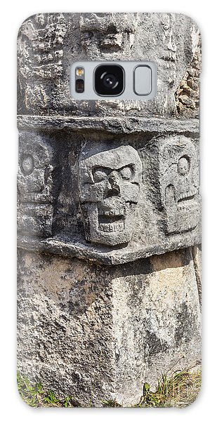 Tzompantli Or Platform Of The Skulls At Chichen Itza Galaxy Case