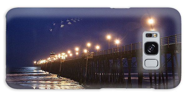Ufo's Over Oceanside Pier Galaxy Case