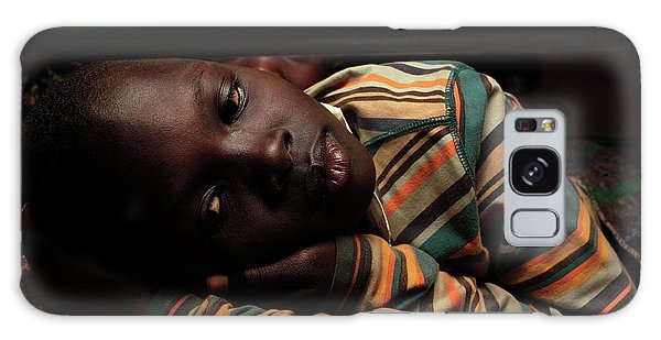 Sacred Heart Galaxy Case - Ugandan Child In A Refuge by Mauro Fermariello/science Photo Library