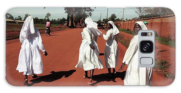 Sacred Heart Galaxy Case - Ugandan Nuns by Mauro Fermariello/science Photo Library
