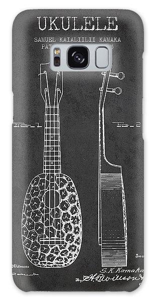 Folk Art Galaxy Case - Ukulele Patent Drawing From 1928 - Dark by Aged Pixel
