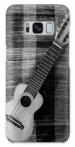 Ukulele Still Life In Black And White Galaxy Case