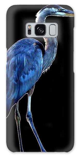 Ultra Blue - Heron Photo Galaxy Case by William Bartholomew