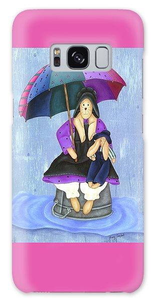 Umbrella Bunny Galaxy Case by Tracy Campbell