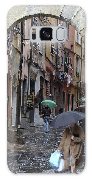 Umbrella Day Portovenere Italy Galaxy Case
