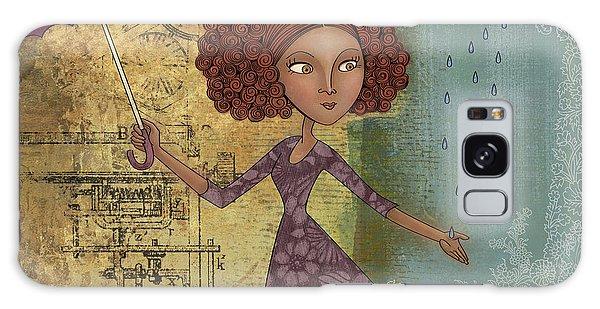 Galaxy Case - Umbrella Girl by Karyn Lewis Bonfiglio