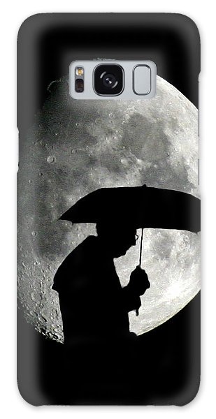 Umbrella Man With Moon Galaxy Case