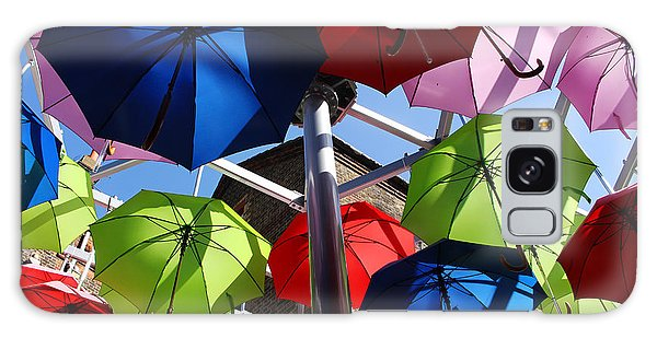 Umbrellas In The Sky Galaxy Case by Nicky Jameson